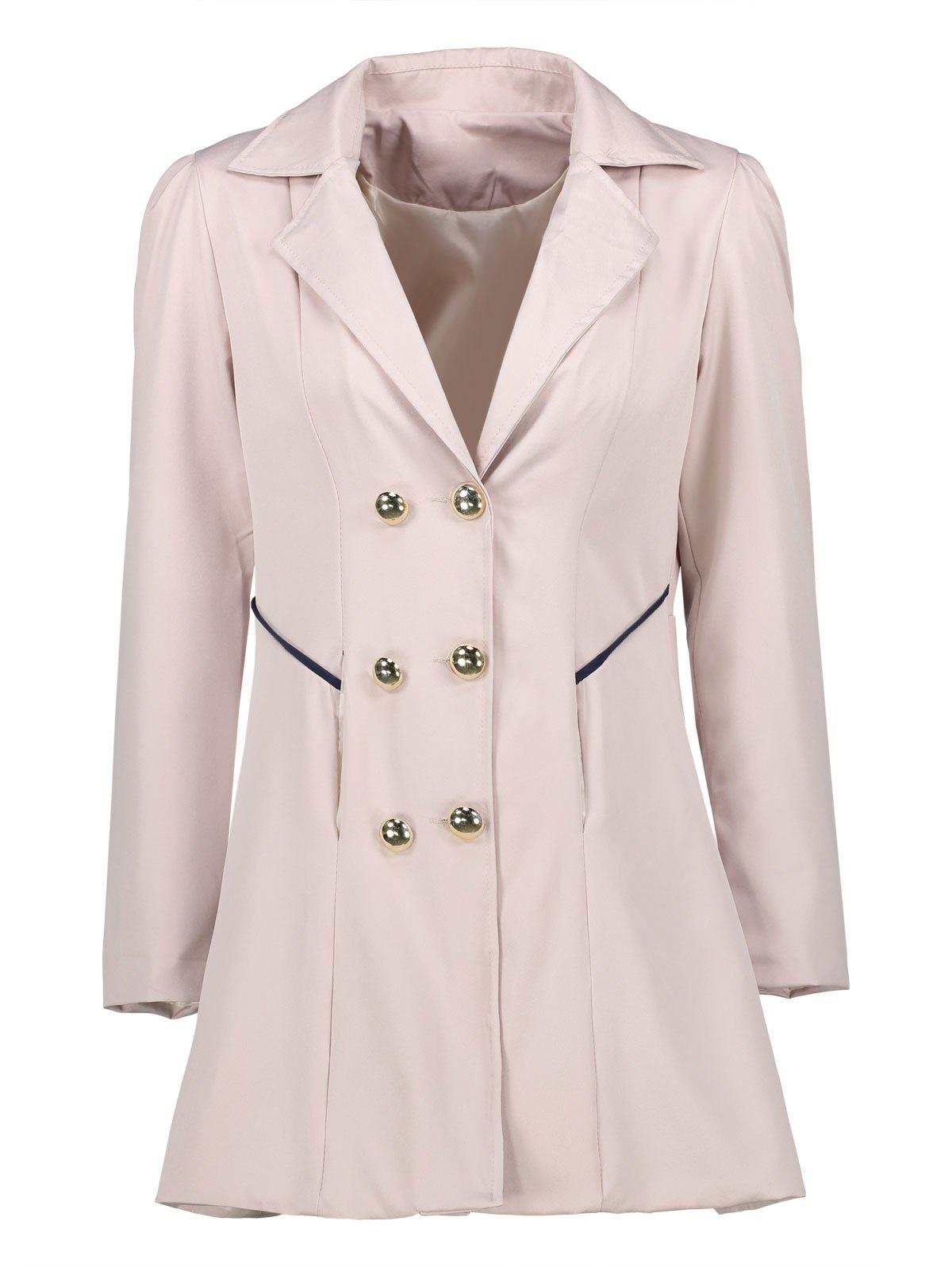 Affordable Double Breast Long Lapel Coat