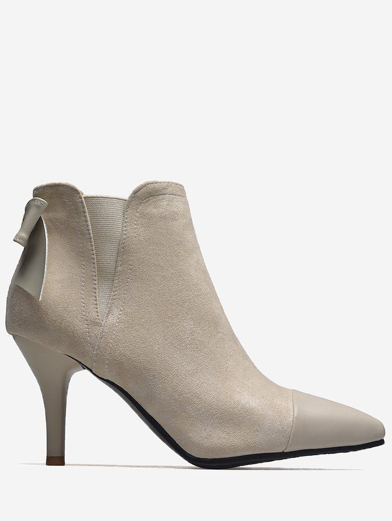 Latest Pointed Toe Bow Ankle Boots