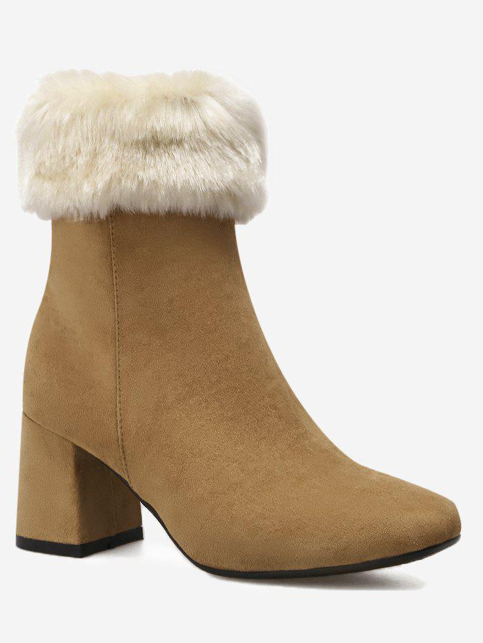 Hot Fold Over Square Toe Mid Calf Boots