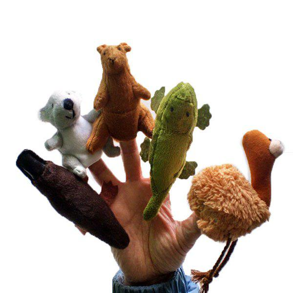 Interesting 5Pcs/Set Animals Shape Finger PuppetHOME<br><br>Color: COLORFUL; Products Type: Finger Toy; Style: Novelty; Material: Plush; Package Contents: 1 x Finger Puppets (Set);