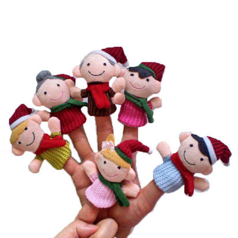 Interesting 6 Pcs/Set Cartoon Christmas Family Finger PuppetHOME<br><br>Color: COLORFUL; Event &amp; Party Item Type: Other; Occasion: Christmas; Weight: 0.0832kg; Package Contents: 1 x Finger Puppets (Set);