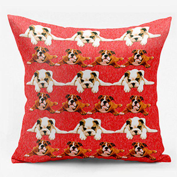 Cute Pug Double Sided Printed Decorative Pillow Case