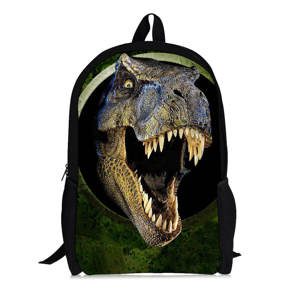 3D Animal Print School BackpackSHOES &amp; BAGS<br><br>Color: GREEN AND WHITE AND APRICOT; Backpack Usage: Daily Backpack; Backpacks Type: Softback; Closure Type: Zipper; Pattern Type: Animal Prints; Main Material: Polyester; Gender: For Men; Weight: 1.2000kg; Package Contents: 1 x Backpack; Length: 42CM; Width: 14CM; Height: 28CM;