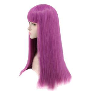 Long Neat Bang Striaght Synthetic Descendants 2 Mal Cosplay Wig -