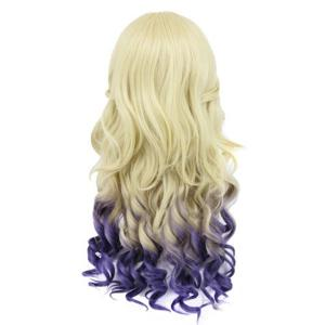 Long Middle Part Wavy Ombre Synthetic Descendants 2 Mal Cosplay Wig -