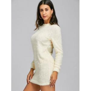 Mini Fuzzy Sweater Dress -