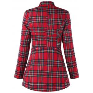 Ugly Christmas Double Breasted Plaid Coat -