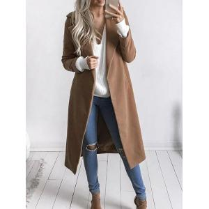 Lapel Duster Coat with Pockets -