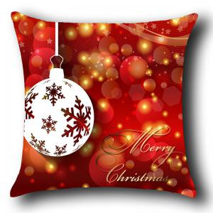 Christmas Baubles Pattern Decorative Pillow Case -