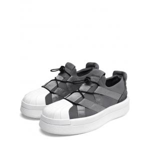 Platform Shell Toe Athletic Skate Shoes -