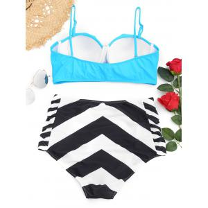 Underwire Frilled Zigzag Plus Размер Бикини Set -