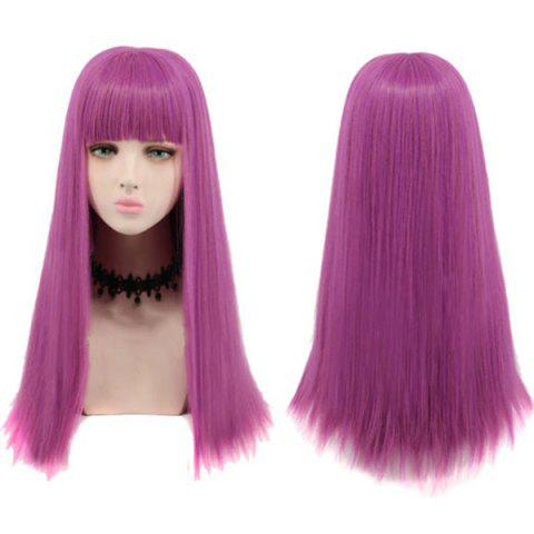 Hot Long Neat Bang Striaght Synthetic Descendants 2 Mal Cosplay Wig