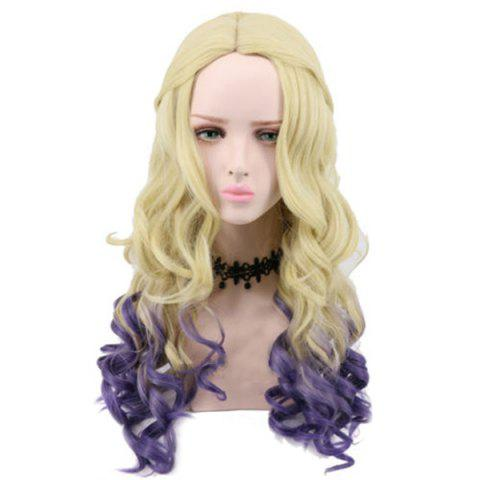 Shops Long Middle Part Wavy Ombre Synthetic Descendants 2 Mal Cosplay Wig