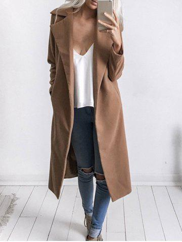 Lapel Duster Coat with Pockets