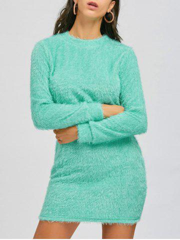 Discount Mini Fuzzy Sweater Dress