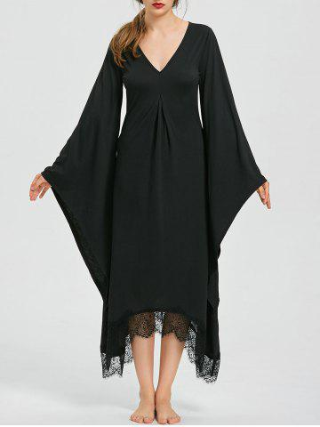 Buy Halloween V Neck Bell Sleeve Longline Dress