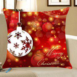 Christmas Baubles Pattern Decorative Pillow Case - Red - W18 Inch * L18 Inch