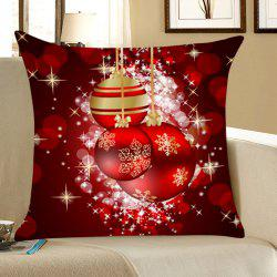 Christmas Snowflakes Balls Pattern Throw Pillow Case - Deep Red - W18 Inch * L18 Inch