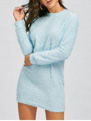 Mini Robe Sweat Pelucheux -