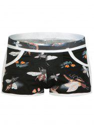 Convex Pouch Bee Print Undershorts -