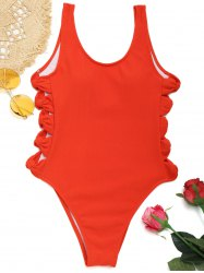 High Cut Side Bowknot Swimsuit -