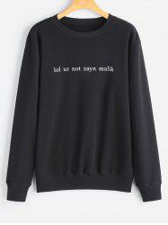 Crew Neck Casual Letter Sweatshirt -