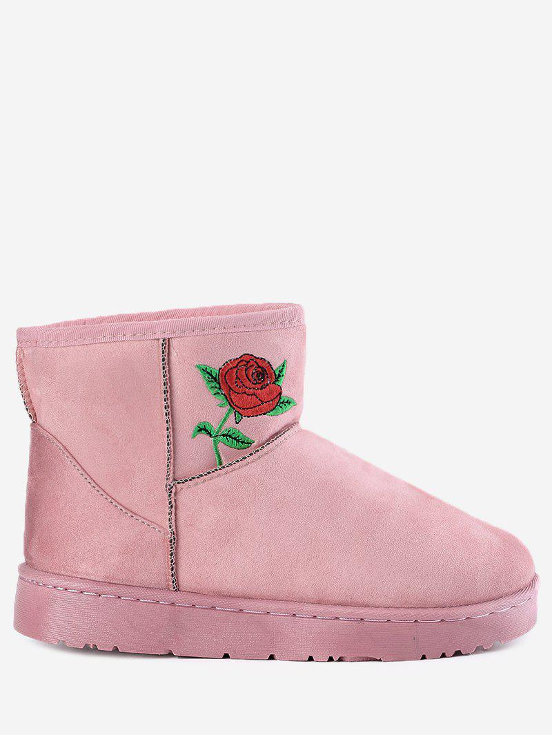 Best Flower Embroidery Ankle Snow Boots