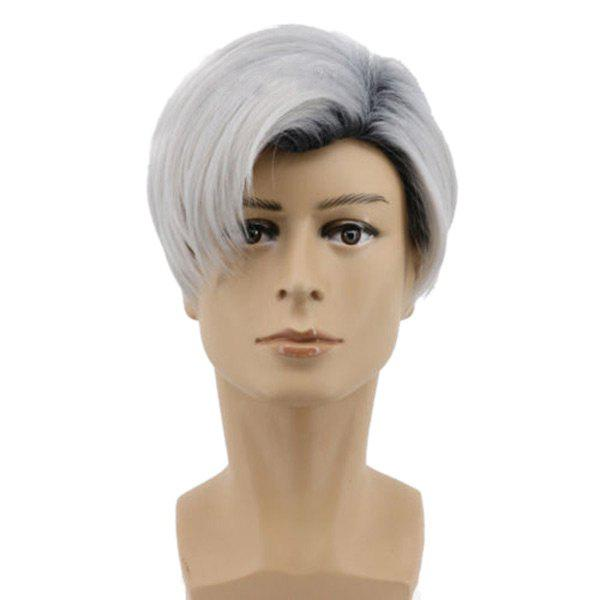 Fancy Short Colormix Side Parting Straight Descendants 2 Carlos Cosplay Wig