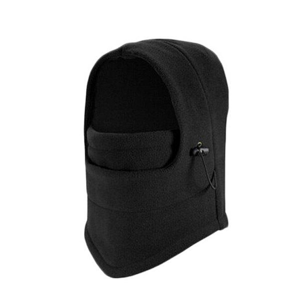 Outdoor Sports Windproof Cycling Hat with Face MaskHOME<br><br>Color: BLACK; Gender: Unisex; Type: Cycling Masks; Style: Fashion; Feature: Windproof; Pattern Type: Solid; Material: Cotton; Weight: 0.1000kg; Package Contents: 1 x Hat;