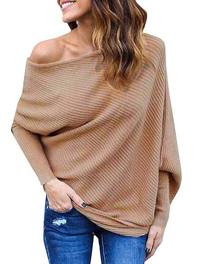 Outfits Batwing Sleeves Skew Neck Sweater