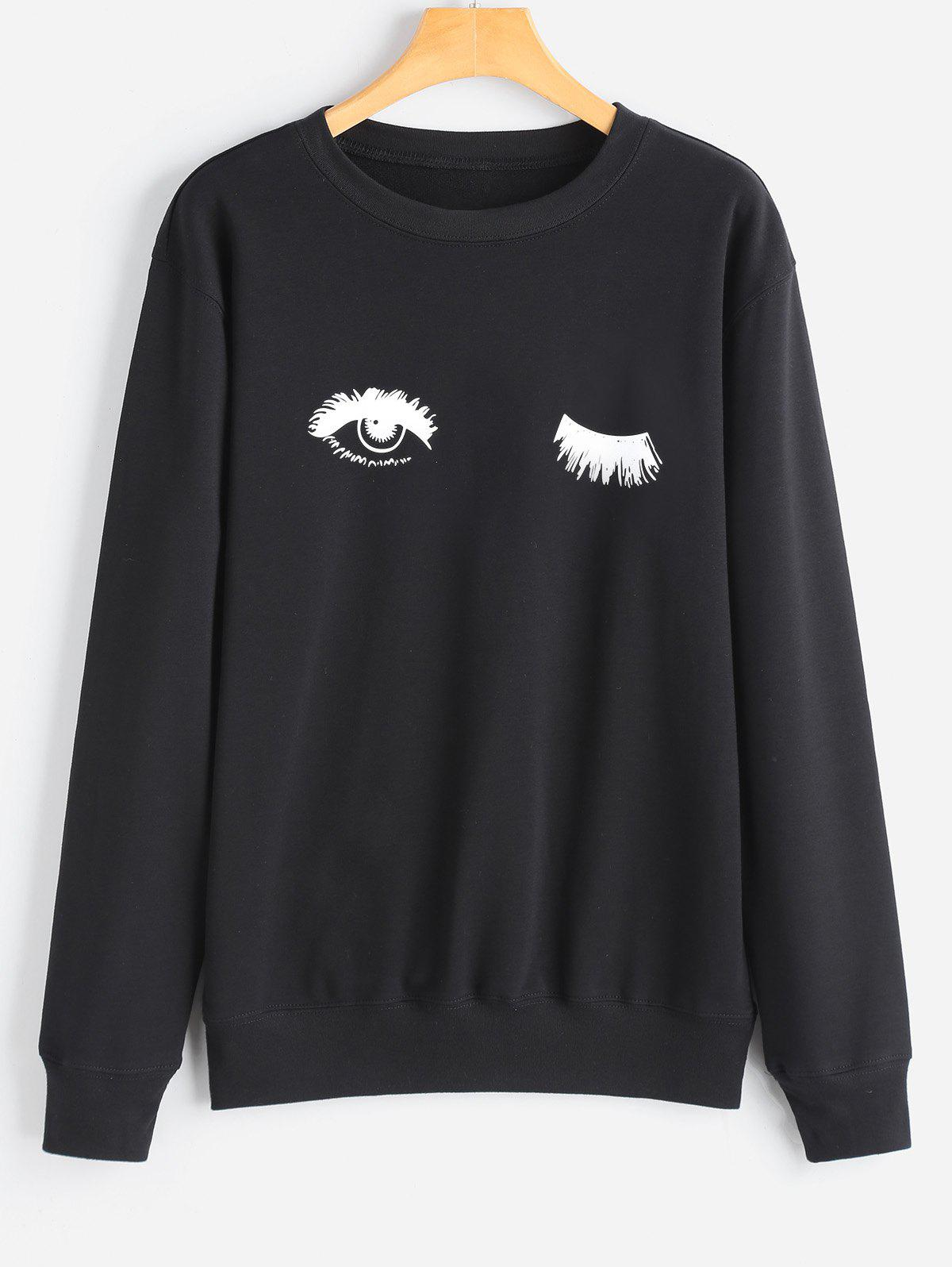 Trendy Eye Print Sweatshirt