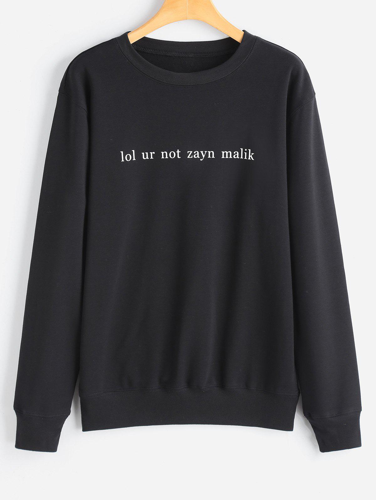 Latest Crew Neck Casual Letter Sweatshirt