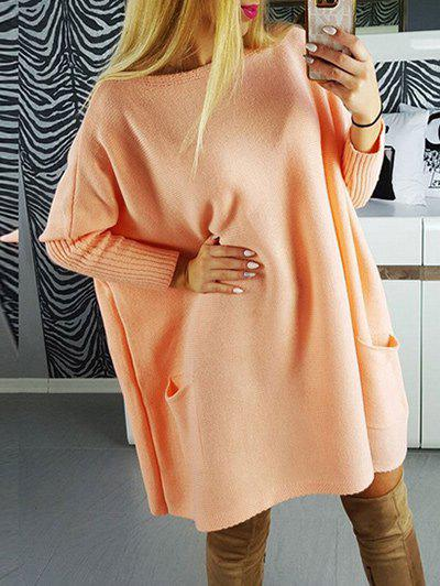 Outfits Drop Shoulder Knit Dress with Pockets