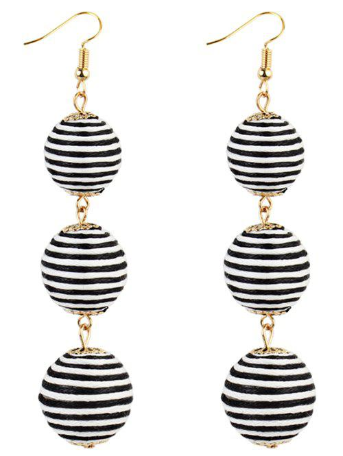 Vintage Boho Style Bon Bon Drop EarringsJEWELRY<br><br>Color: BLACK WHITE; Earring Type: Drop Earrings; Gender: For Girls,For Women; Style: Trendy; Shape/Pattern: Ball; Weight: 0.0280kg; Package Contents: 1 x Earrings(Pair);