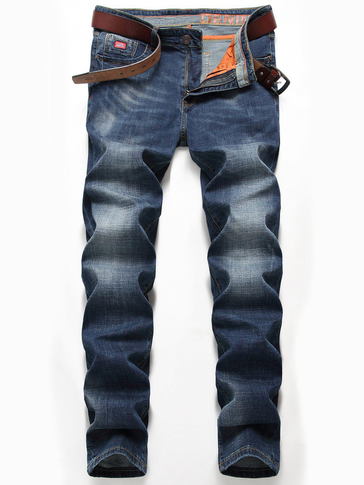 New Zip Fly Straight Leg Classic Jeans