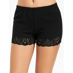 Safety Openwork Boyleg Panties -