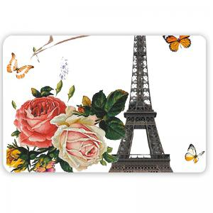 3Pcs Flowers Eiffel Tower Pattern Bath Toilet Mats Set -