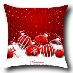 Christmas Snow Balls Printed Square Throw Pillow Case -