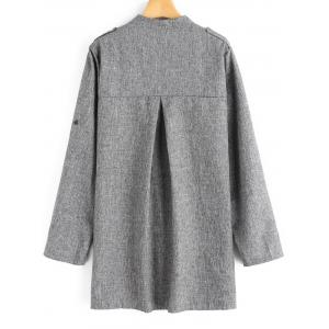 Plus Size Open Front Heathered Coat -