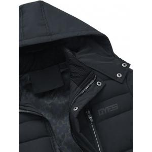 Zip Up Detachable Hood Padded Coat -