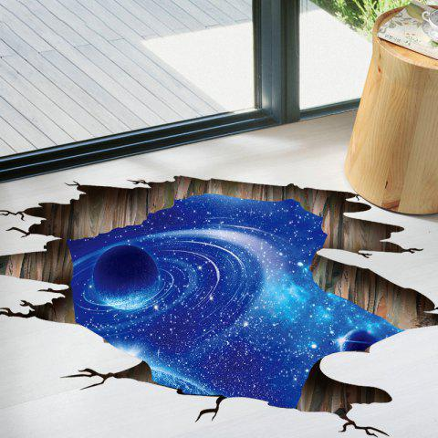 Shops Galaxy Planet 3D Broken Floor Sticker For Bedroom