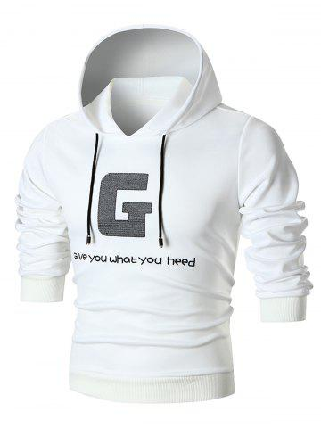 Embroidered Graphic Pullover Hoodie