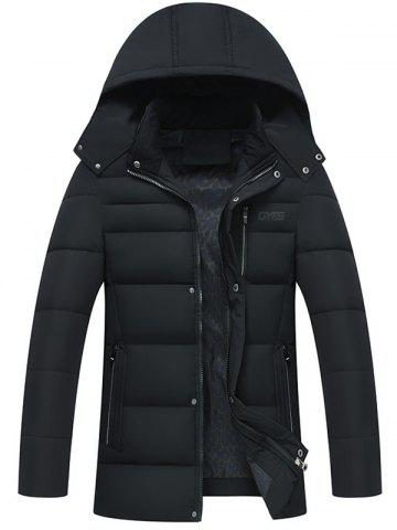 Shops Zip Up Detachable Hood Padded Coat