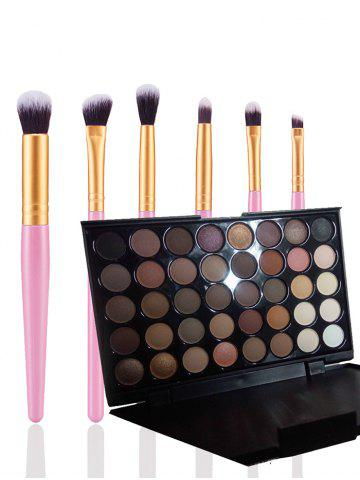 Fashion 40 Colors Eyeshadow Palette with Makeup Brushes Set