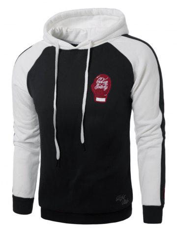 Gloves Embroidered Fleece Pullover Hoodie