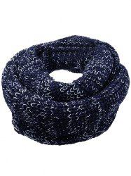 Outdoor Color Spliced Crochet Knitted Scarf -