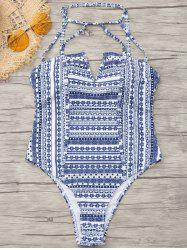 Tribe Print High Cut One Piece Swimwear -
