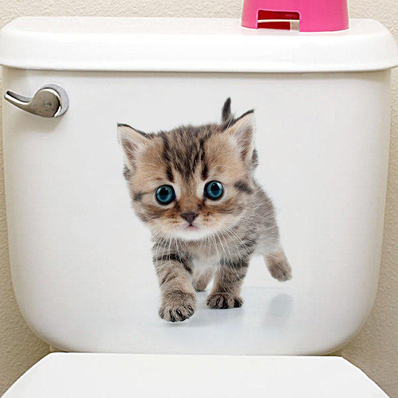 3D Animal Toilet Closestool Wall Decor StickerHOME<br><br>Size: 20*30CM; Color: GRAY; Wall Sticker Type: 3D Wall Stickers; Functions: Toilet Stickers; Pattern Type: 3D,Animal; Material: PVC; Feature: Removable; Size(L*W)(CM): 20*30CM; Weight: 0.0300kg; Package Contents: 1 x Toilet Sticker;