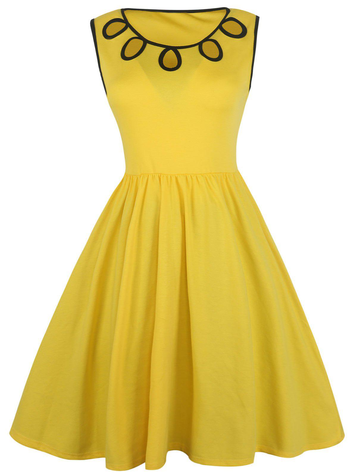 Best A Line Cut Out Sleeveless Dress