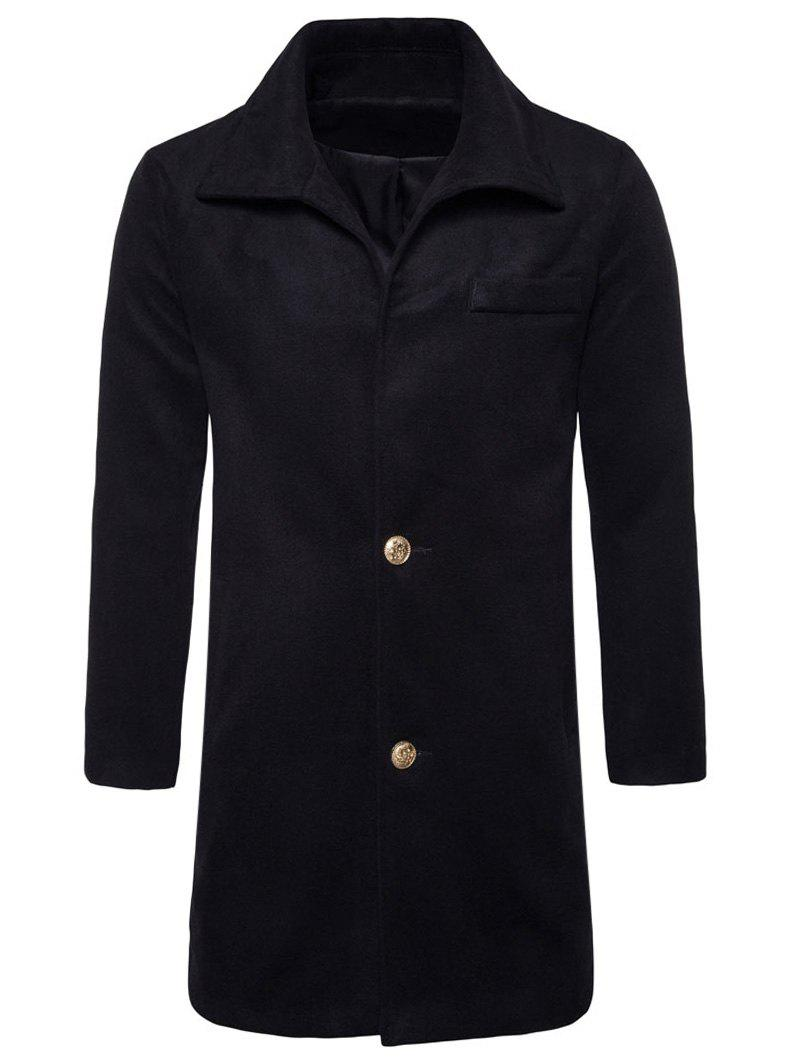 Fashion Single Breasted Edging Woolen Coat